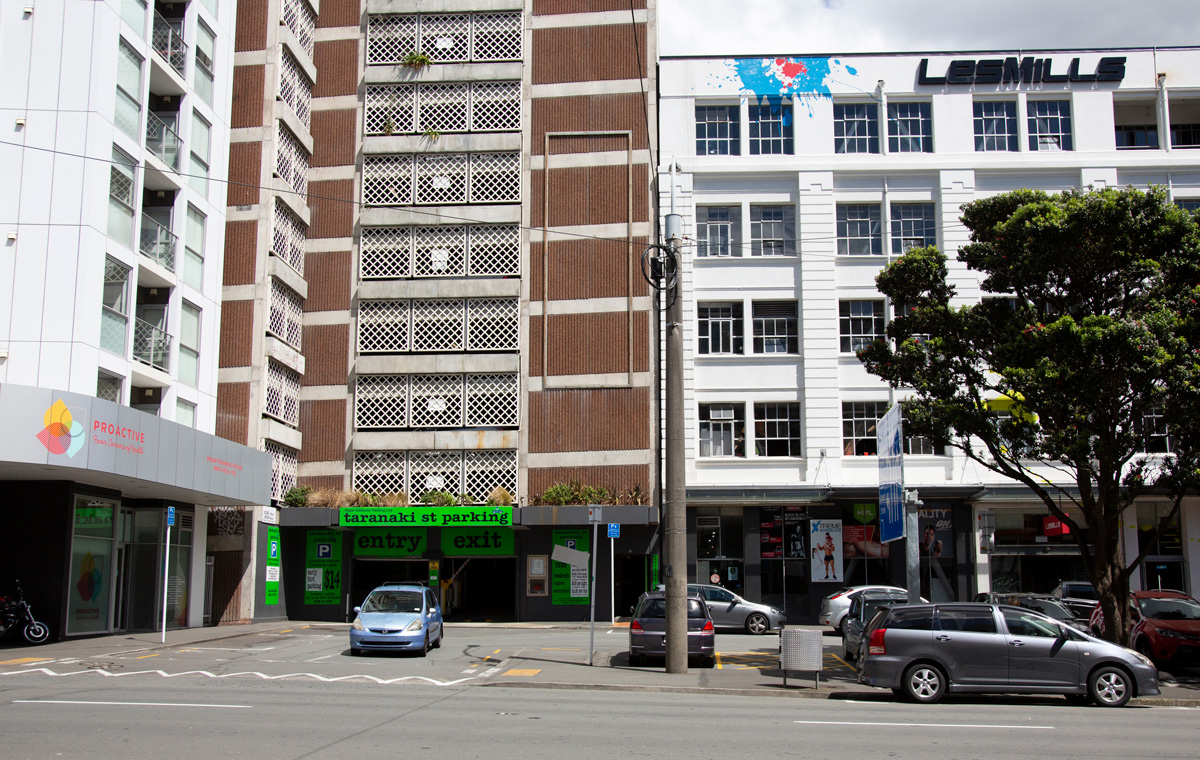 Central parking in wellington – Taranaki st parking – building